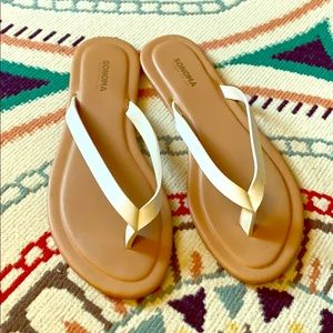 White thing sandals